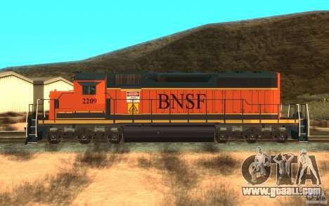Locomotive SD 40 Union Pacific BNSF for GTA San Andreas left view