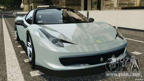 Ferrari 458 Italia 2010 [Key Edition] v1.0 for GTA 4