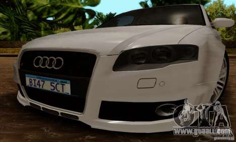 Audi RS4 2007 for GTA San Andreas right view