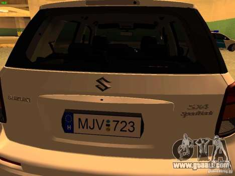 Suzuki SX-4 Hungary Police for GTA San Andreas inner view