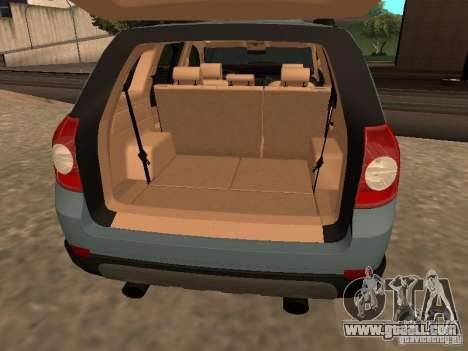 Chevrolet Captiva for GTA San Andreas back view