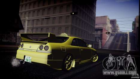 Nissan Skyline GTS R33 for GTA San Andreas back view