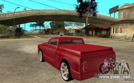 Slamvan Custom for GTA San Andreas back left view