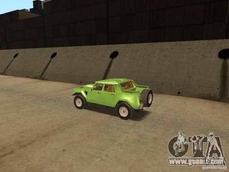 Lamborghini LM-002 v2 for GTA San Andreas right view