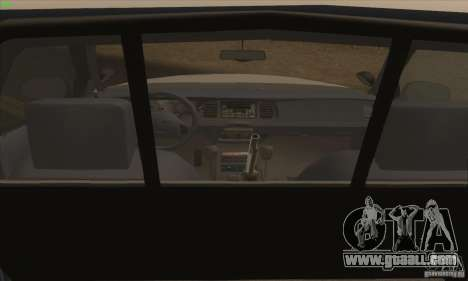 Ford Crown Victoria California Police for GTA San Andreas back left view