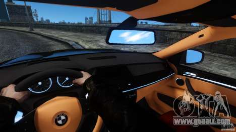 BMW X6 2013 for GTA 4 inner view
