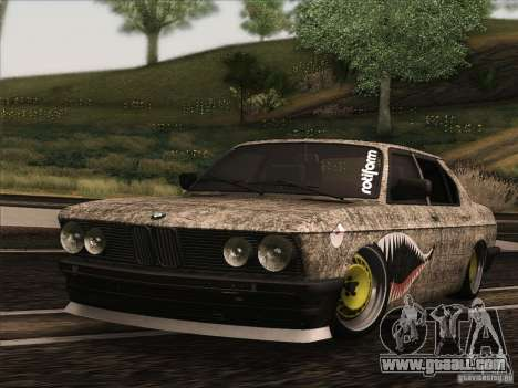 BMW E28 525E RatStyle for GTA San Andreas left view