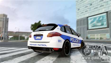 Porsche Cayenne Cop for GTA 4 left view