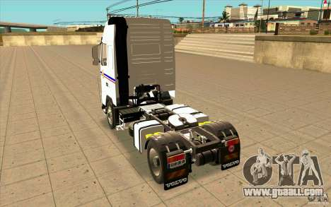 Volvo FH16 Globetrotter TRANSALLIANCE for GTA San Andreas back left view