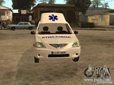 Dacia Logan Ambulanta for GTA San Andreas inner view