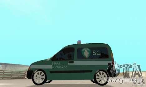 Renault Kangoo Straz Graniczna for GTA San Andreas right view