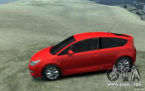 Citroen C4 2009 VTS Coupe v1 for GTA 4