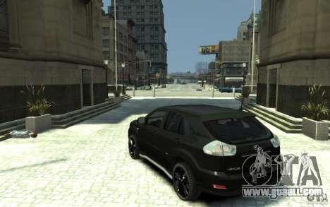 Lexus RX 400h for GTA 4 back left view