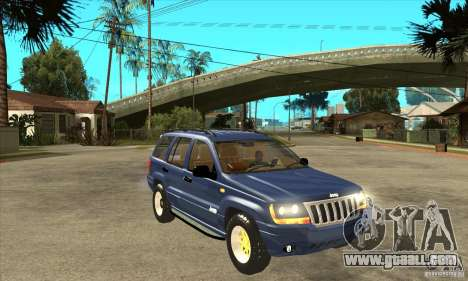 Jeep Grand Cherokee 2005 for GTA San Andreas back view