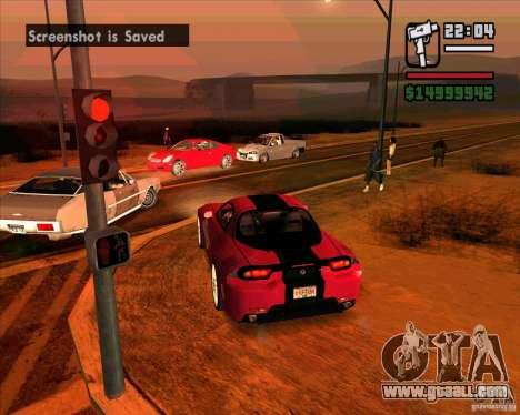 Mazda RX-7 MW for GTA San Andreas right view
