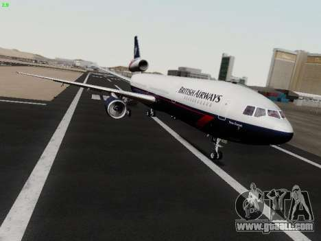 McDonell Douglas DC-10-30 British Airways for GTA San Andreas left view