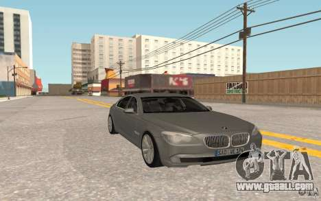 BMW 730d for GTA San Andreas back left view