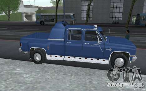 Chevrolet Silverado 3500 for GTA San Andreas left view