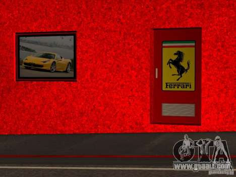 New Ferrari Showroom in San Fierro for GTA San Andreas sixth screenshot