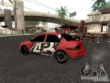 Mitsubishi Lancer Evo 8 for GTA San Andreas back left view