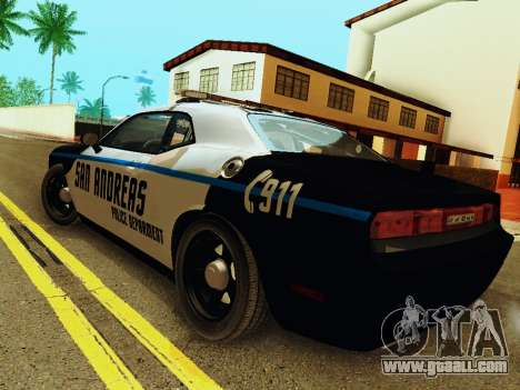 Dodge Challenger SRT8 2010 Police for GTA San Andreas back left view