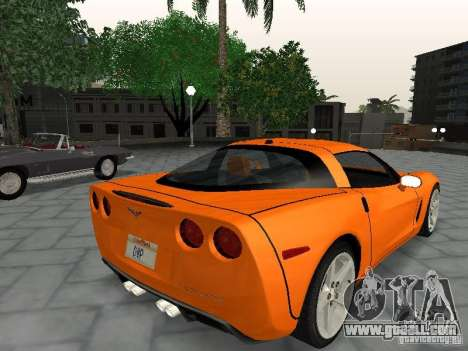 Chevrolet Corvette (C6) for GTA San Andreas left view