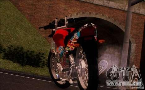 Yamaha YBR for GTA San Andreas back view