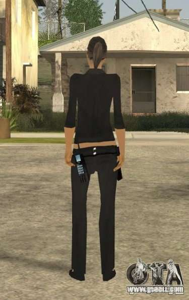 DD girl skin for GTA San Andreas third screenshot