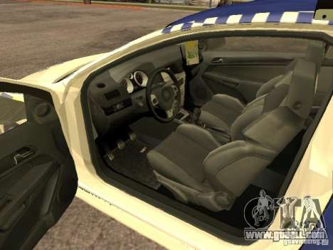 Opel Astra 2007 Police for GTA San Andreas back left view