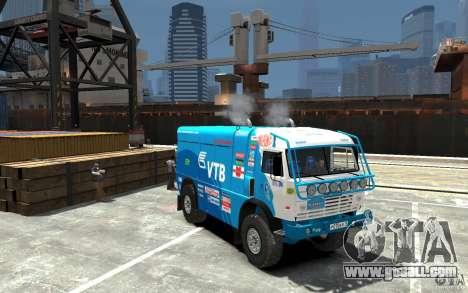 KAMAZ 4911 Rally MASTER for GTA 4 back view