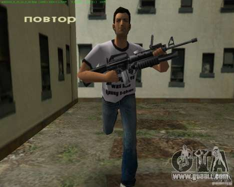 M-16 from Scarface for GTA Vice City fifth screenshot