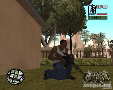 The RPK-74 for GTA San Andreas second screenshot