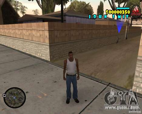 HUD Adidas for GTA San Andreas
