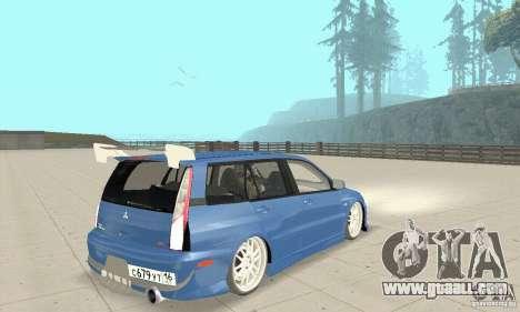 Mitsubishi Lancer Evolution IX Wagon MR Drift for GTA San Andreas left view