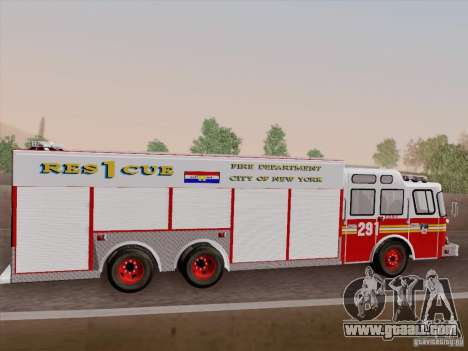 E-One F.D.N.Y Fire Rescue 1 for GTA San Andreas upper view