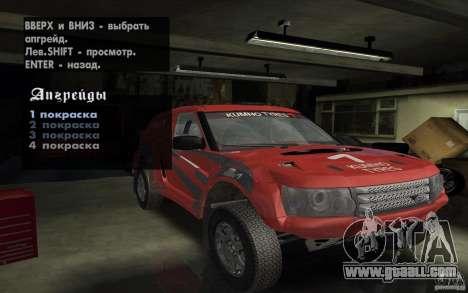 Bowler Nemesis for GTA San Andreas upper view