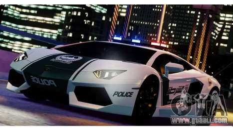 Lamborghini Aventador LP700-4 Dubai Police v1.0 for GTA 4 left view