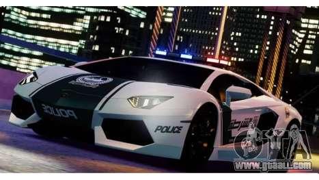 Lamborghini Aventador LP700-4 Dubai Police v1.0 for GTA 4