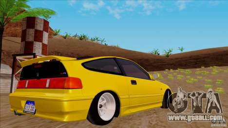 Honda CRX Hella Flush for GTA San Andreas left view