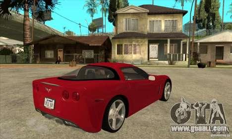 Chevrolet Corvette C6 Z51 - Stock for GTA San Andreas right view