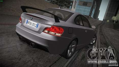 BMW 135i Coupe Road Edition for GTA San Andreas upper view
