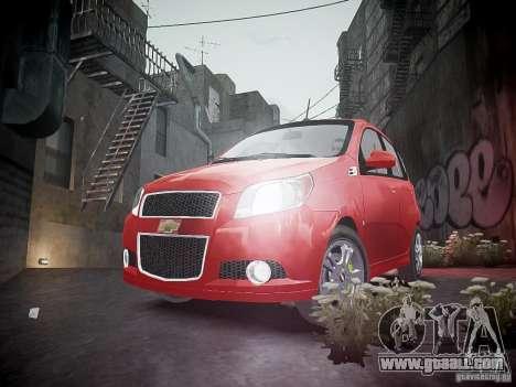 Chevrolet Aveo LT 2009 for GTA 4 bottom view