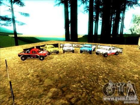 Toyota Tundra Rally for GTA San Andreas bottom view