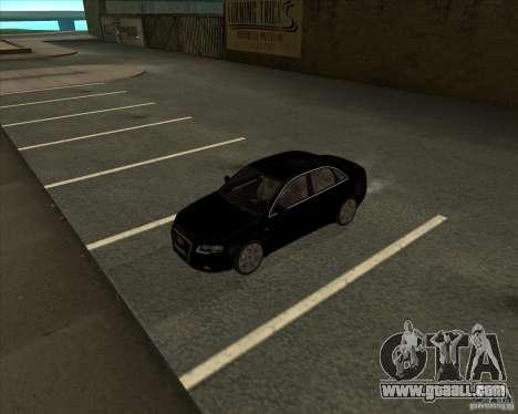 AUDI S4 Sport for GTA San Andreas inner view