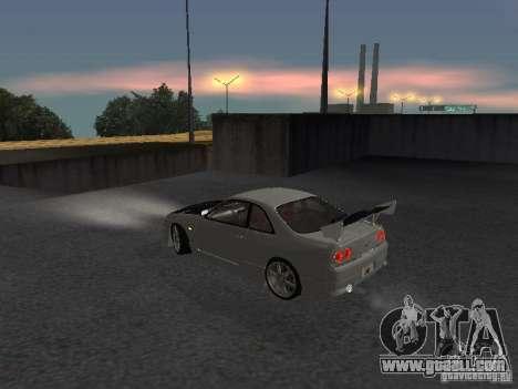 Nissan Skyline R33 SGM for GTA San Andreas back left view