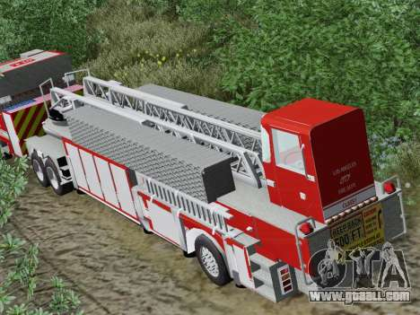 Pierce Arrow XT LAFD Tiller Ladder Trailer for GTA San Andreas side view