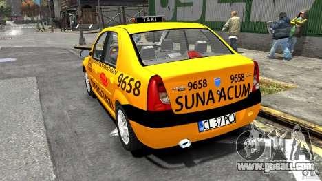 Dacia Logan Prestige Taxi for GTA 4 back left view
