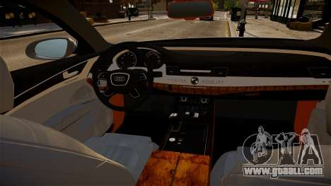Audi A8 limousine for GTA 4 inner view