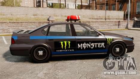 Police Monster Energy for GTA 4 back left view