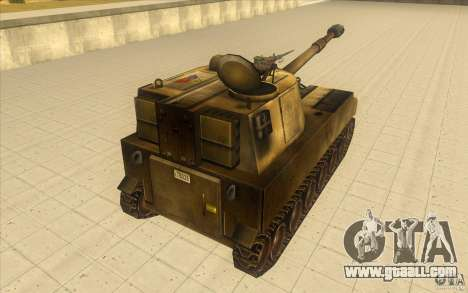 M-109 SELF-PROPELLED GUNS for GTA San Andreas back left view